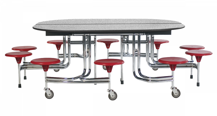 10-Seat Oval Table