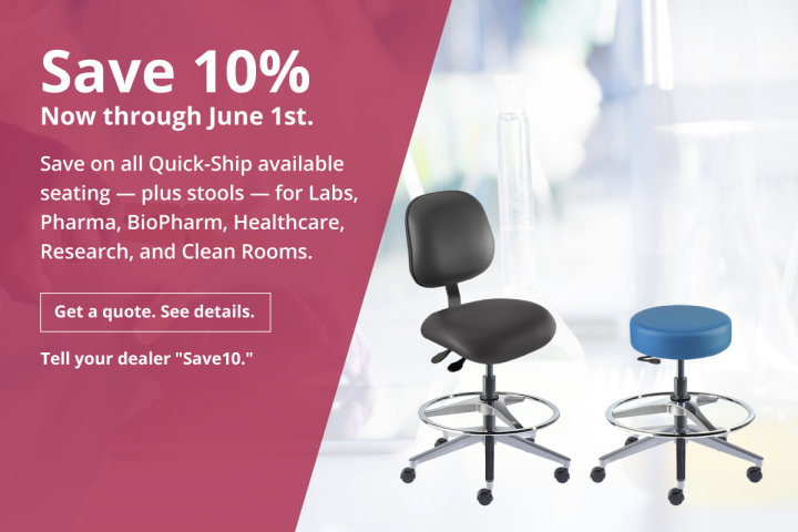 Save 10% on all Quick Ship items and Stools through 6/1/2020